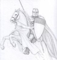 templar on rearing horse by dashinvaine