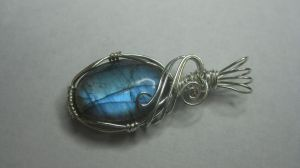 Blue Ice Labradorite by MoonlitCreek