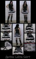 Gothic Lolita Skirt by ZenAndCoffee