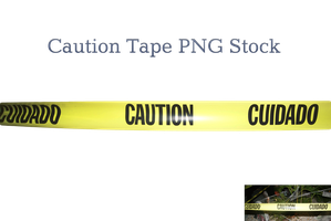 Caution Tape PNG Stock by KarahRobinson-Art