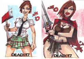 Dead at 17 SKETCH CARDS by jasinmartin