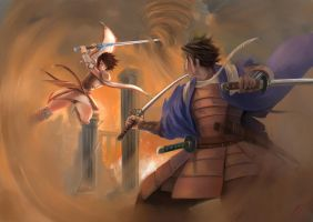 Duel: Valeria vs Kamiizumi by Luches
