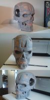 Terminator T-800 Endoskull WIP by tricketitrick
