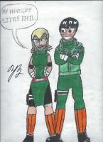 Gift: Sairah and Rock Lee by GoroKai
