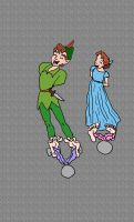 Peter Pan and Wendy Tickled by rajee