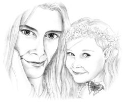 Young Finrod and Galadriel by Airendis