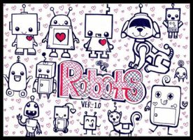 OH MAI GOD, CUTE ROBOTS, YAY by Fantasy-and-Fiction