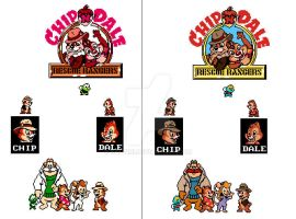 Rescue Rangers NES - Recolored by Salvini