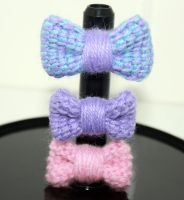 Crocheted Bow Rings by TheHarley