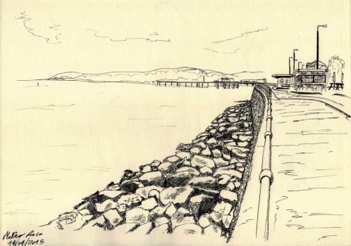 View of Colwyn Bay, Wales by ChanginColorLizard
