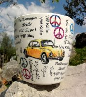 Flower pot, VW yellow beetle by naraosart