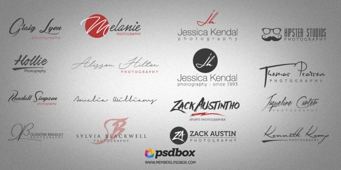 Free Photograghy Logos Pack (Fonts included) by Andrei-Oprinca