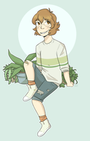 Pidge And Plants by ghostyjpg