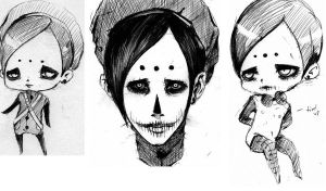 Bone Face sketches by InsaneAndroid