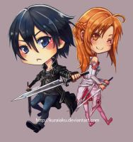 Kirito and Asuna by kuraiaku