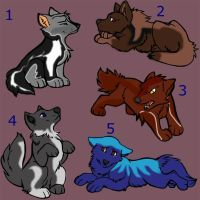 Cubs Adoptables 1 by AgmenAdoptables12