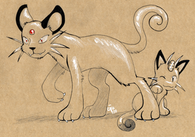 Craft Persian and Meowth by raizy