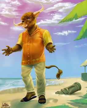 Ron At The Beach by AlexanderWolfe