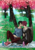 Commiss: Picnic by Sakura-Rose12