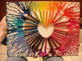 My first crayon melting art.. by kaylzz95
