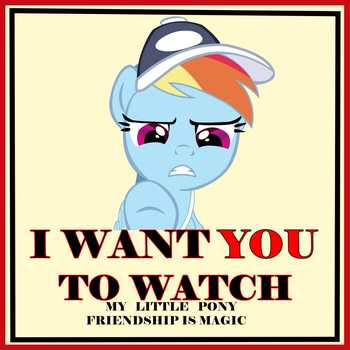 Rainbow dash parody poster by Diagon197