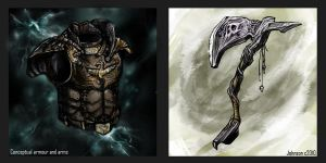 Conceptual Armour and arms I by DevJohnson