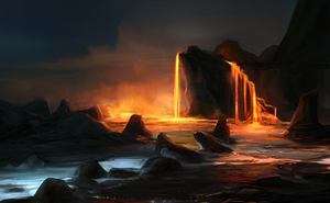 Lava lake by Ketunleipaa