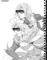 Lightning and Warrior of Light_Sunglasses by kairimiao13