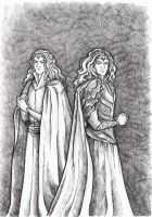 The Ainur: Manwe and Melkor by AnotherStranger-Me