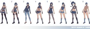 Outfit designs by essentialsquid
