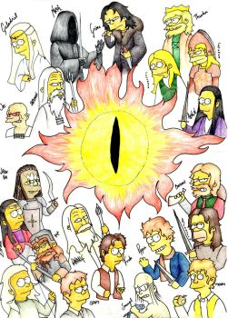 Simpsons of the Ring by Fyrie