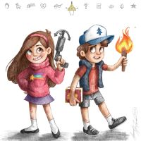 Mabel and Dipper by McManamanimation
