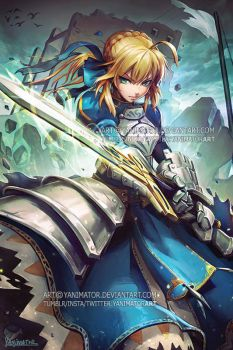 Fate Stay Night - Saber / King Arthur by yanimator