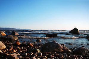 Boulders on the shore 1 by LucieG-Stock