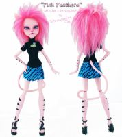 Pink Panthera - Monster High Repaint by PixiePaints