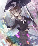 Colorful Rain And Monochrone Memories[+Speedpaint] by BlueFly-shi