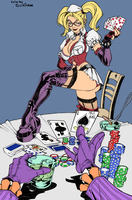 Harley Quinn Strip Commission By CarlosGomezArtist by SickSean