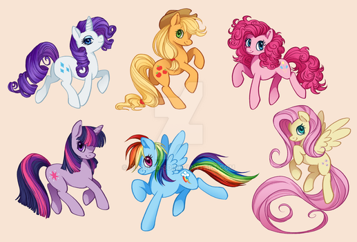 Ponies! by Clouded-3D