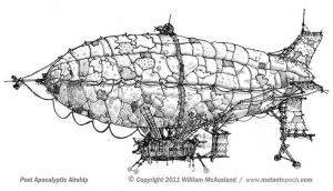 Post Apocalyptic Airship by McAusland