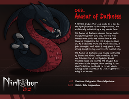 Nintober 063. Avatar of Darkness by fryguy64