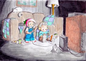 Rad, Jack, and the Ps2 by Cyberpumpkin