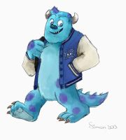 Monsters University Sully by SimonTheFox1