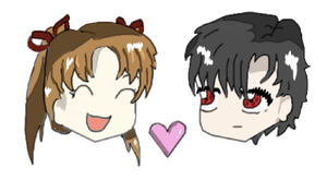 Mikan and Natsume Chibi~! by janzram
