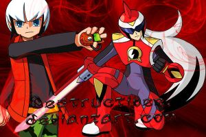 Chaud and protoman by destructivee