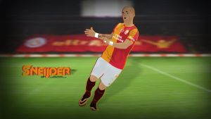 Wesley Sneijder Vector Wallpaper by napolion06