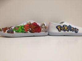 Pokemon shoes by ieatedacookie