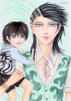 Father and Son: Nathan and Gerard by Khallandra
