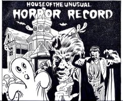 horror record cover by kaviart