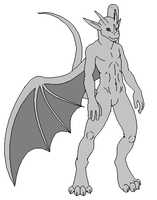 male anthro dragon base clean by MrBlock