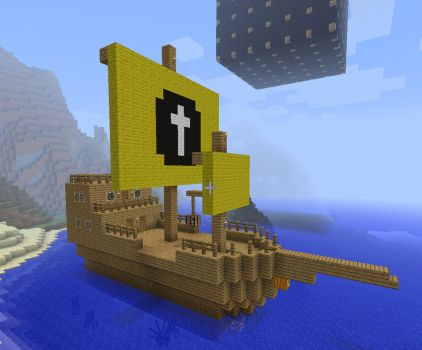 Minecraft Ship by MustageIce